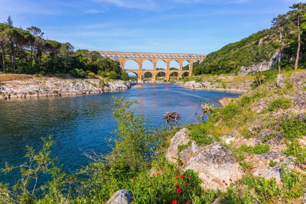Pont du Gard in de buurt van Le Fil Rouge
